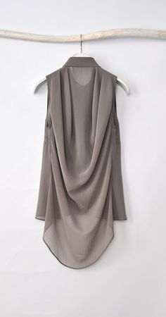 Grey Blouse Chiffon Shirt Chiffon Top от HannaBoutiqueDesign