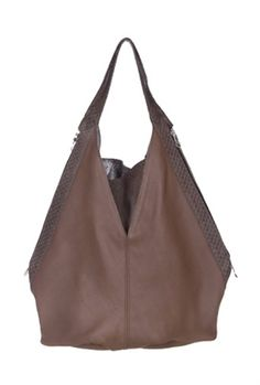 Celeb Love That!  JJ Winters Boa Bucket Bag in Taupe, $570