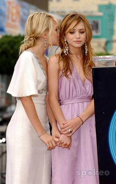 beautiful dresses and hair/ mary kate and ashley olsen
