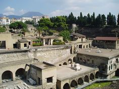 Herculaneum is less famous victim of the Vesuvius that was destroyed along with Pompeii on August 24th, 79 AD