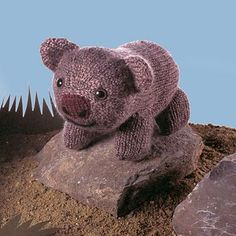 Knitted wombat pattern