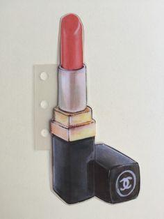Designer Illustration Lipstick bookmark by TheFabulousPlanner