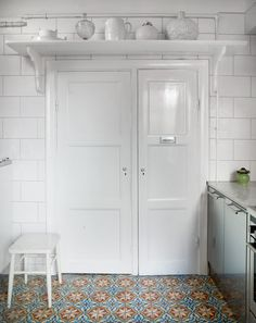 Franskt bistrokök med marockanskt golv - Sköna hem