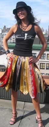 tie skirt; gal in knitting group made something similar. It was super neat! @lynnae Tracy, this would be a cool project for you and Aria :)