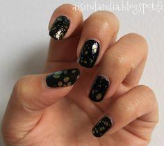 Tutoriaali: Vesimarmorointia pisaroilla  //  Tutorial: Water marbling with hand sanitizer spray, black spotted look