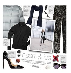 """heart and ice - exact match"" by federica-m ❤ liked on Polyvore featuring Milly, Christian Louboutin, Sinclair, Karen Walker, Bobbi Brown Cosmetics, Butter London, Smashbox, GetTheLook, blogger and christianlouboutin"