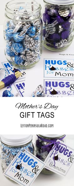 Mother's Day Gift tags for candy-filled mason jars.