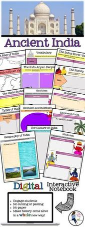 Bring technology into the middle school Social Studies classroom when teaching Ancient India! This fun INB will keep your students engaged AND organized! Source by embrott - Kindergarten Social Studies, 6th Grade Social Studies, Social Studies Classroom, History Classroom, Teaching Social Studies, World History Lessons, History Education, History Teachers, Teaching History