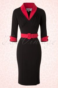 Miss Candyfloss  Black and Red Pencil Dress 100 10 16241 20151110 0005W