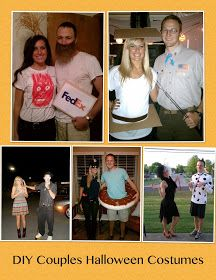 Katie Raines: DIY Couples Halloween Costume Ideas. Funny thing is Jesse could use his own beard for the top left costume.