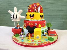 mickey mouse cakes for boys   Mickey Mouse Club House Cake