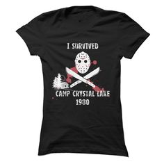 I Survived Camp! Did you survive camp? Get it here!Jason, Friday The 13th, Halloween, Horror, Spooky, Ghost, blood,