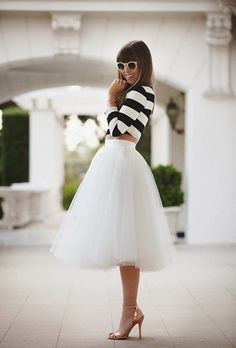 Saia midi tule ( midi Skirt) como usar http://horadediva.blogspot.com.br/2014/04/saia-midi-como-usar-essa-super-tendencia.html