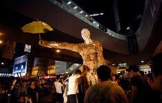 """Umbrella Man"" by Hong Kong artist ""Milk"" A new mascot for the pro-democracy movement in Hong Kong, dubbed Umbrella Man, emerged on Sunday night."
