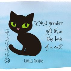 Charles Dickens Quote: What greater gift than the love of a cat? Purrfect Gift for the Cat Lover! Home & Office Wall Decor Cat Quotes, Wall Art Quotes, Quote Wall, Cat Lover Gifts, Cat Gifts, Cat Lovers, Animal Art Prints, Cat Art Print, Basic Embroidery Stitches