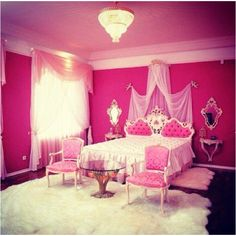Ultimate princess room. Super cute for a little girl