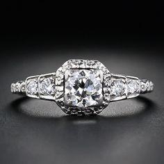 Platinum and diamond Art Deco engagement ring, 1930's.