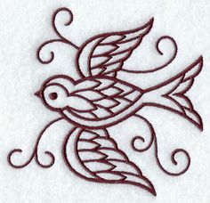 Swallow embroidery