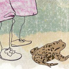 Toad. A sample of one of the images for a new book in the pipeline. Text removed.