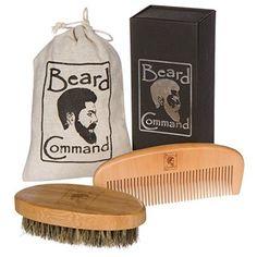 Beard Command KIT Best Beard Comb, Beard Brush, Beard Products, Types Of Beards, Boar Bristle Brush, Hipster Beard, Beard Look, Styling Comb, Beard Care