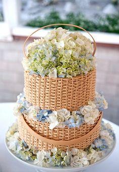 gâteau paniers de fleurs / flower baskets cake