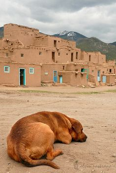 Taos New Mexico.  I would love to visit Taos NM.  This reminds me of the condo we live in here in Mesquite, they were designed after this look.