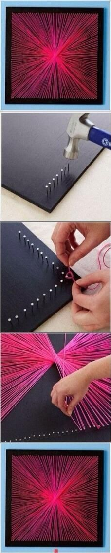cute string art idea