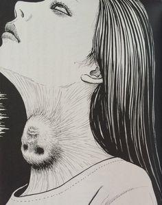 木原浩勝『怪、刺す』「顔」より・伊藤潤二