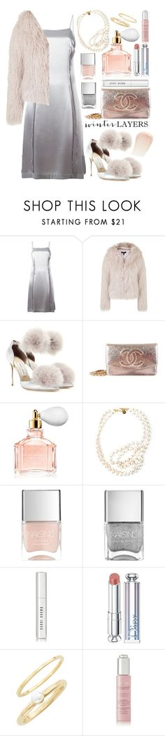 """""""Winter Layers: Slip Dress"""" by angelicachen on Polyvore featuring Maison Margiela, Topshop, Jimmy Choo, Chanel, Guerlain, STELLA McCARTNEY, Nails Inc., Bobbi Brown Cosmetics, Christian Dior and Jules Smith"""