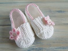 Crochet Pattern (PDF file) Baby Strapped Slippers 0 - 2 years