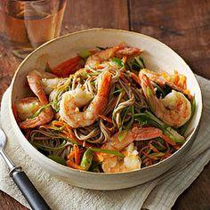 Shrimp-Gingered Shrimp with Soba