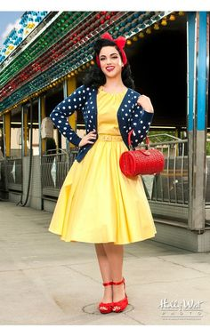 Channel your inner Snow White! :: Pin Up Snow White:: Retro Style:: Vintage Fashion