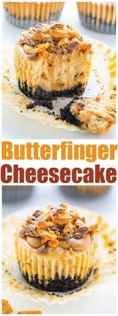 This fall, make your Halloween party extra special with a decadent bite-size dessert that's sure to score big with your family. Layered with a crumbly chocolate cookie crust, creamy cheesecake, peanut butter glaze, and chopped BUTTERFINGER® candy bars, these Mini Peanut Butter Cheesecakes are a truly special party treat!
