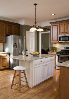 Cabinet refacing can be a great remodeling solution for those who wish to preserve their existing kitchen design. Let's Face It, a division of HomeTech Renovations, Inc., offers quality cabinet refinishing - a simple and budget conscious approach.