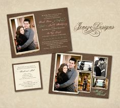 Beautiful Photo Wedding Invitation  www.jeneze.com