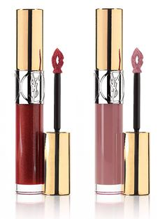 YSL Cuirs Fetiches Collection for Fall 2014 - Gloss Volupte - Cuir Grenat (106) Red  Beige Nu (210) Beige
