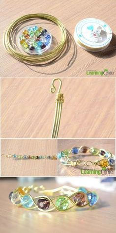 How to Make a 3 Strand Braided Wire Bracelets with Beads ~ Wire Jewelry Tutorials