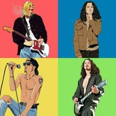 1. Kurt Cobain - Nirvana 2. Eddie Vedder - Pearl Jam 3. Layne Staley - Alice in Chains 4. Chris Cornell - Soundgarden & Audioslave!