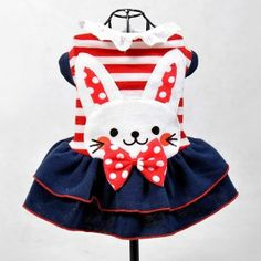 Lovely Rabbit Pattern Dress Pet Cat Dog Clothes for Dogs Dog coat Puppy Clothes - Online Pet Clothing - Online Pet Clothing