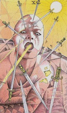 Ten of Swords - Cosmic Tarot by Norbert Losche