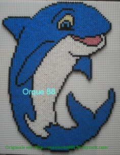 Dolphin hama beads by marmotte88130