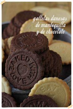 Galletas danesas de mantequilla y de chocolate {by Paula, Con las Zarpas en la…