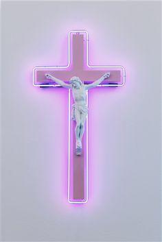 Neon Cross 3 by Stefan Strumbel http://www.artnet.com/galleries/circle-culture-gallery/circle-culture-inventory/2