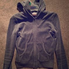 Juicy Couture velour hoodie Grey/ white/ pink juicy hoodie. ❌NO TRADES❌ Juicy Couture Jackets & Coats