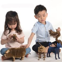 3D Puzzle Animal Cardboard Art Craft Paper Model DIY Kids Toys Educational Papercraft Cool Gifts for Boy Girl Games Play-in Puzzles from Toys & Hobbies on Aliexpress.com | Alibaba Group
