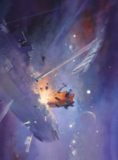 Official website of John Harris: landscape, science fiction and marine artist Space Fantasy, Sci Fi Fantasy, John John, Arte Sci Fi, 70s Sci Fi Art, Space Battles, Art Folder, Futuristic Art, Science Fiction Art