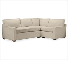 PB Square Upholstered 3-Piece Sectional #potterybarn