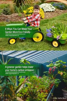 Turn your front or backyard into a greener haven. Join thousands of homeowners who've committed to sustainability through their gardens by following these easy & inexpensive tips! Green Garden, Wheelbarrow, Irrigation, Gardening Tips, Sustainability, Garden Tools, Eco Friendly, Join, Gardens