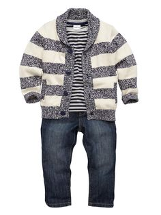 Ladybird Boys Cardigan, T-shirt and Jeans (3 Piece) Set | littlewoods.com