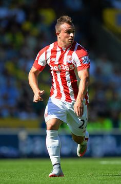 Xherdan Shaqiri / Swiss National Team / Schweizer Nati / Stoke City / Stoke City FC / England / Potters / The Potters See More At https://bet-bg.com/bet365/